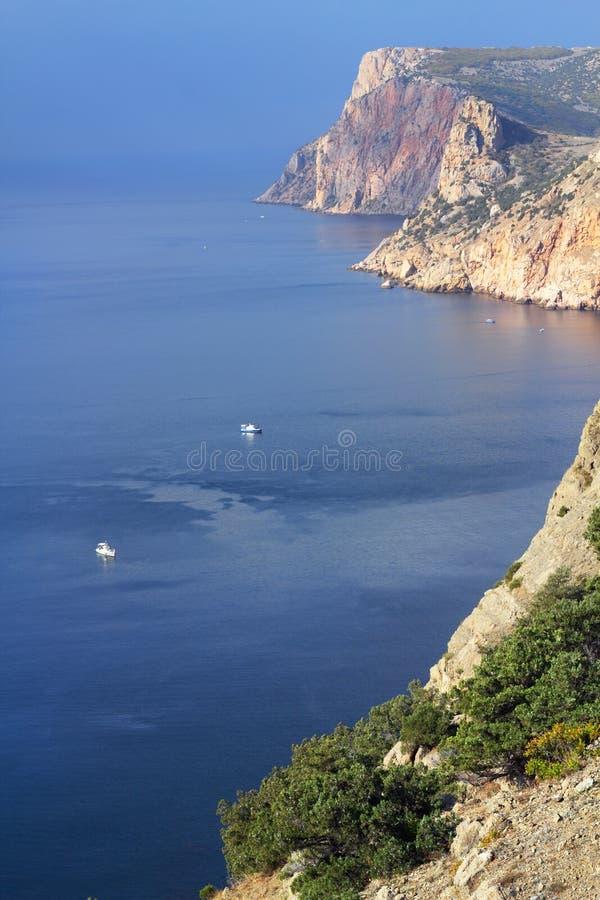View on mountains and sea, Crimea stock photo