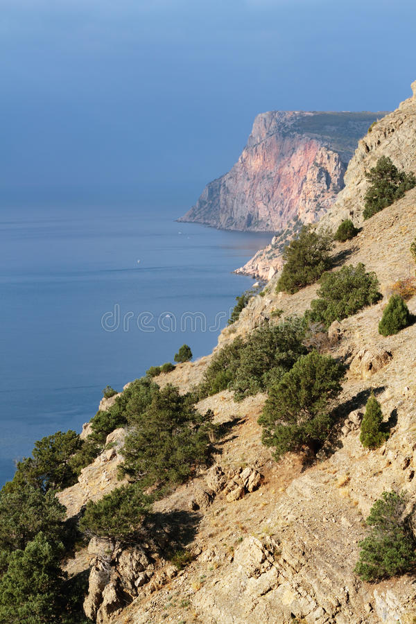 View on mountains and sea, Crimea royalty free stock images