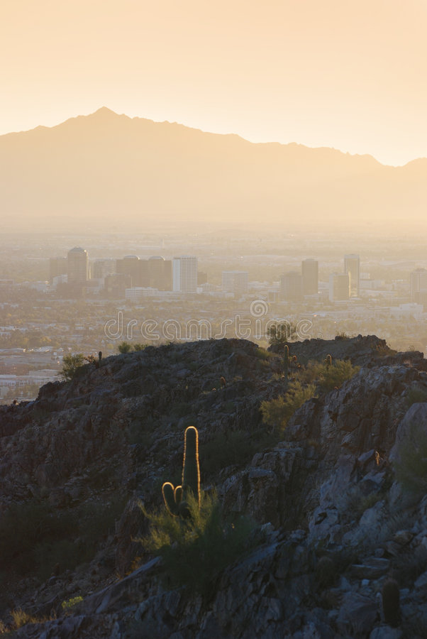 Download View Of Mountains Surrounding Phoenix At Sunset, A Stock Photography - Image: 4547352