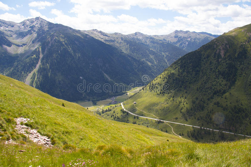 View in mountains royalty free stock photography