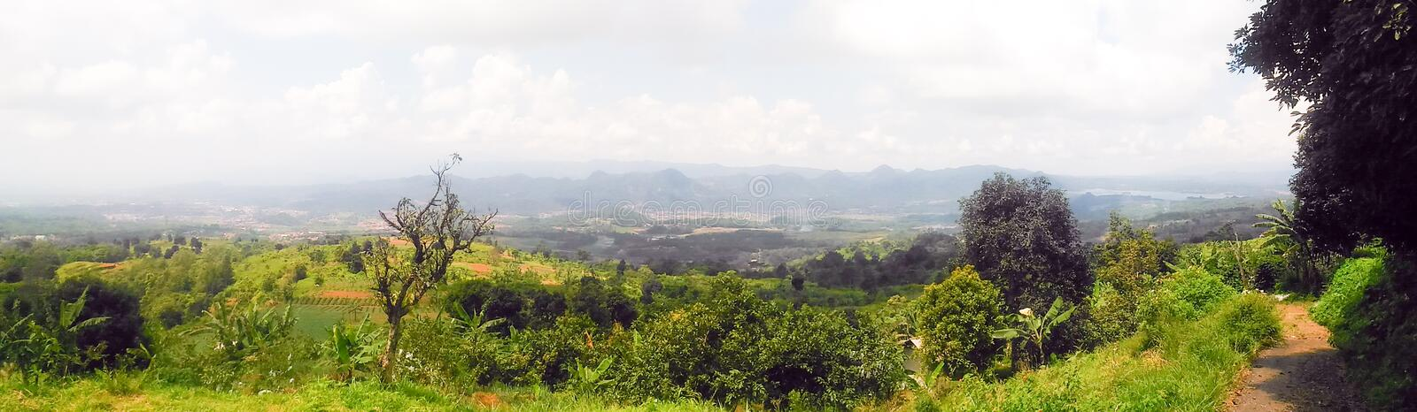 View of the mountains in the west Java of Indonesia royalty free stock images
