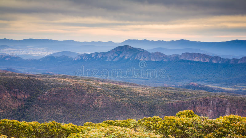 View from Mountt William stock images