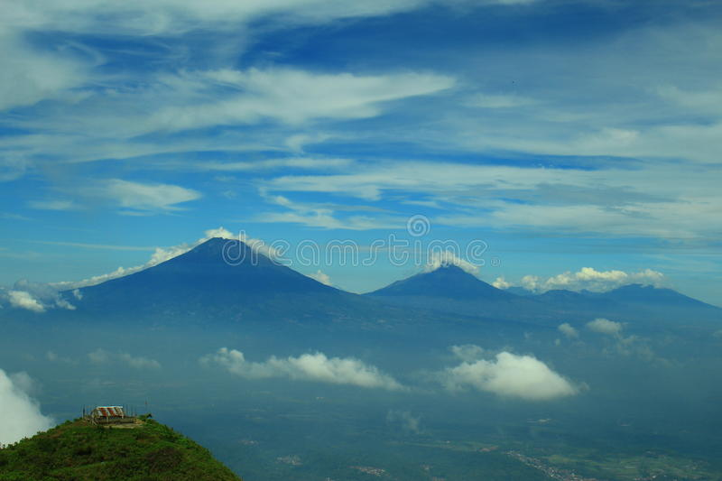 View from mt. Andong Peak. This view was taken from the peak of mt. Andong in Central Java royalty free stock images