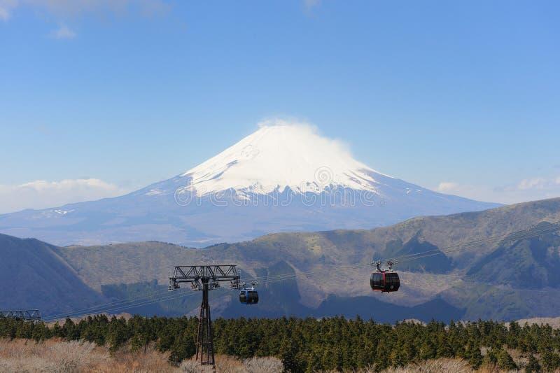 View of Mt. Fuji, Japan. View of Mt. Fuji from Owakudani, Japan stock images