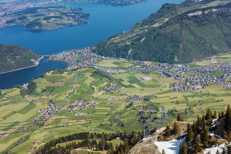 View From Mt Stanserhorn In Switzerland Stock Image Image of