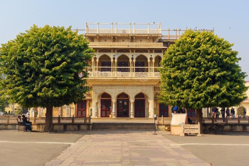 View of Mubarak Mahal in City palace in Jaipur. Rajasthan. India royalty free stock images