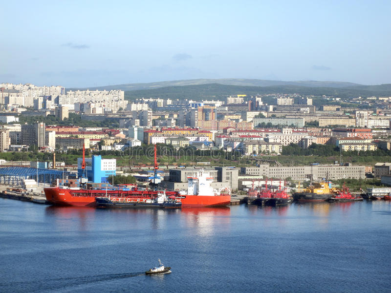View of the Murmansk stock images