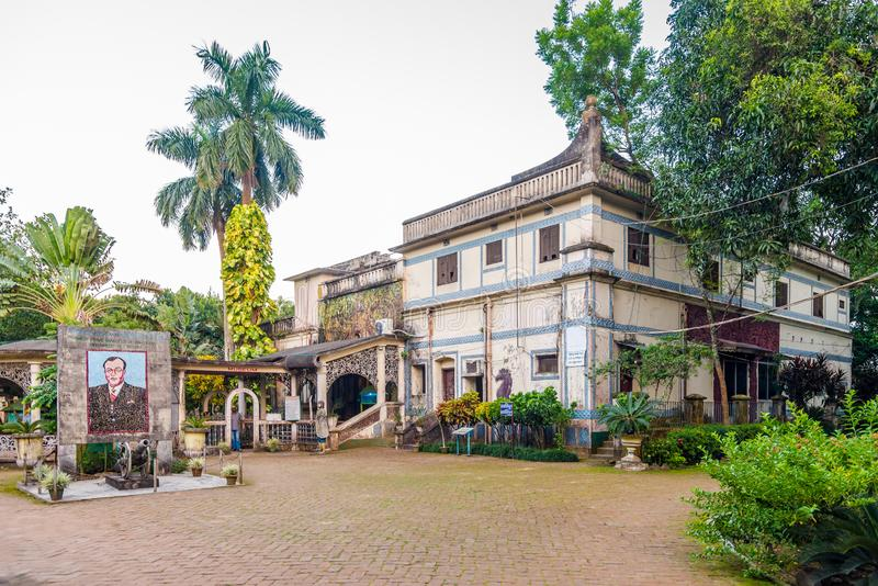 View at the Museum building in Bogra - Bangladesh. BOGRA,BANGLADESH - NOVEMBER 4,2019 - View at the Museum building in Bogra. This city is also known as the stock images