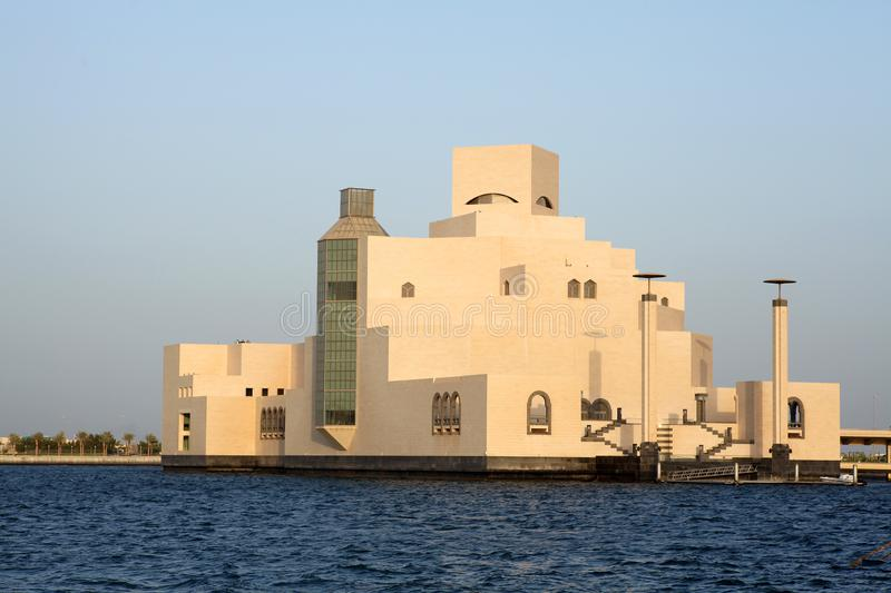 Museum of Islamic Art from the sea stock images