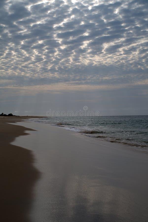 View of mussulo coast beach. Mussulo coast beach on oposite side of the bay stock photo