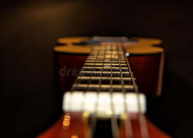 View of my guitar stock photography