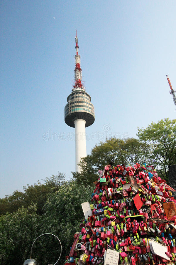 View Of N Seoul Tower In South Korea Editorial Image Image Of Outdoors Mountain 54670220