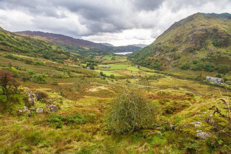 View from the Nant Gwynant Pass royalty free stock photos