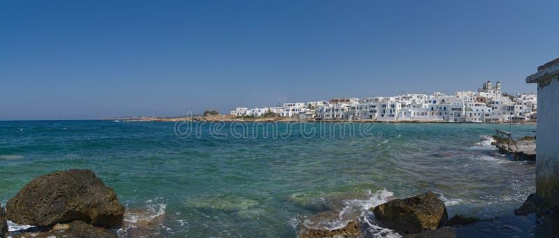 Naoussa village and harbor - Aegean Sea - Paros Cyclades island - Greece royalty free stock photos