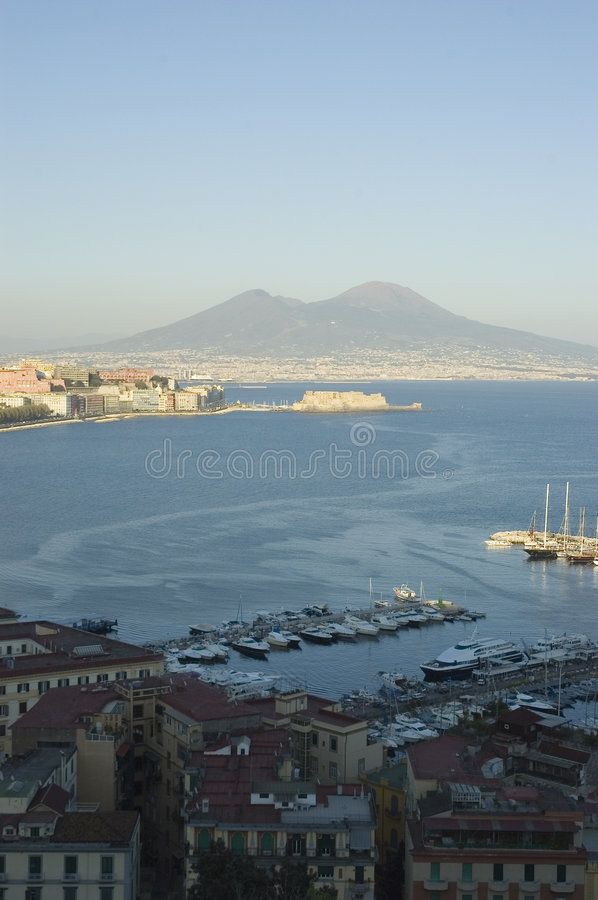 View of Naples, Italy royalty free stock image