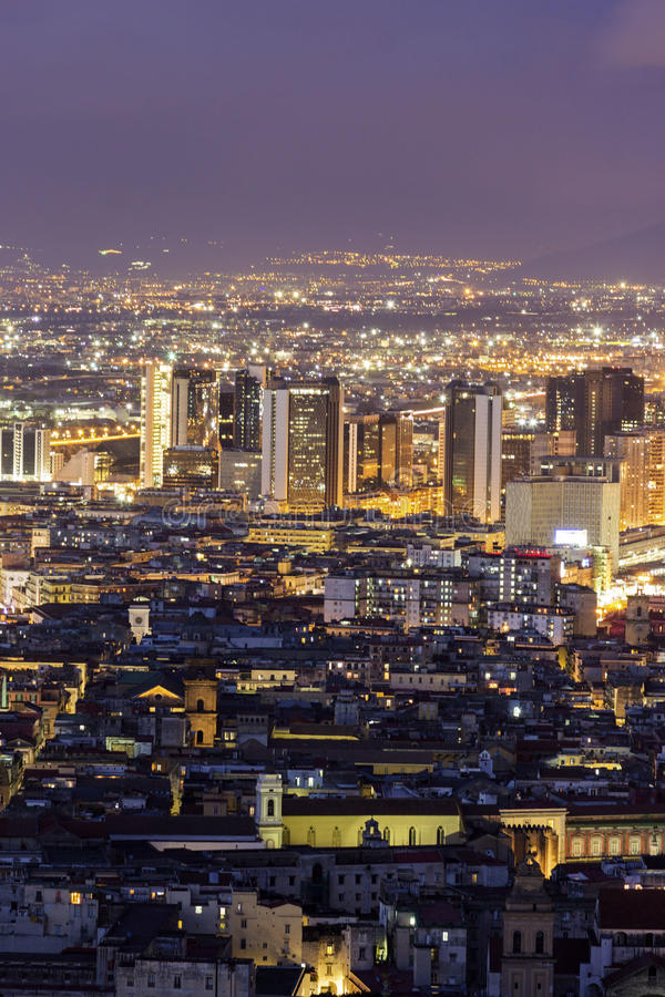View on Naples in Italy stock photo
