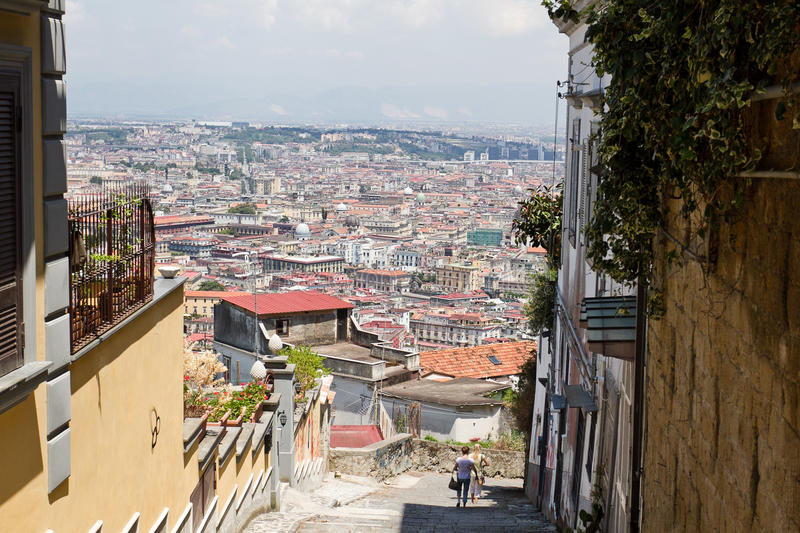 View of Naples royalty free stock image