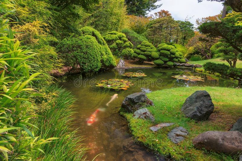 Japanese Tea Garden in Golden Gate Park in San Francisco. royalty free stock image