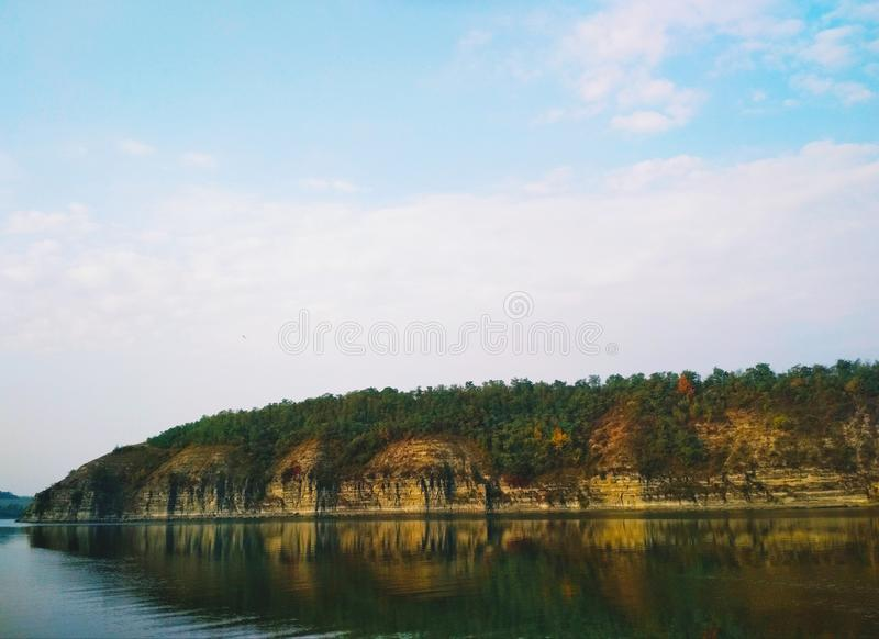 The Dniester river in summer stock images
