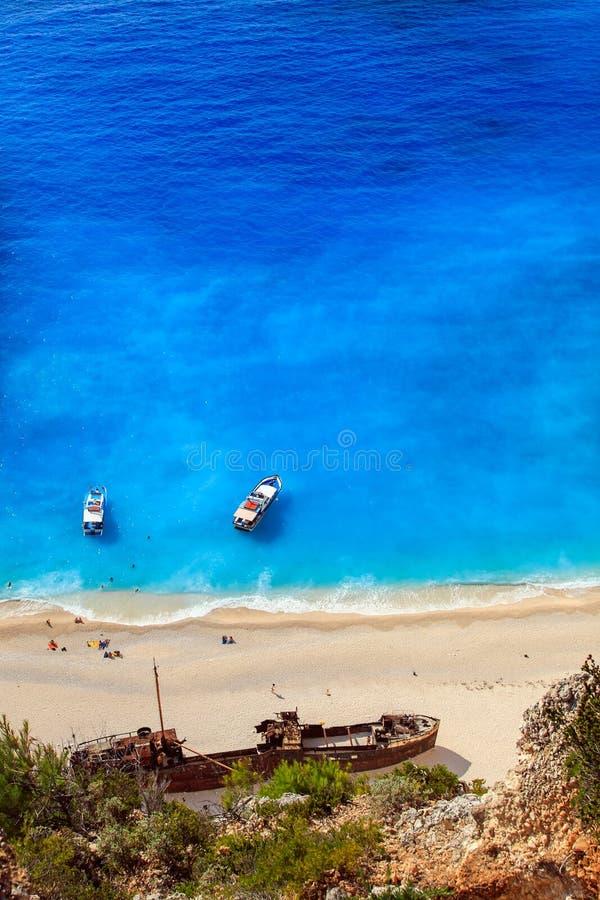 View of Navagio beach royalty free stock photos