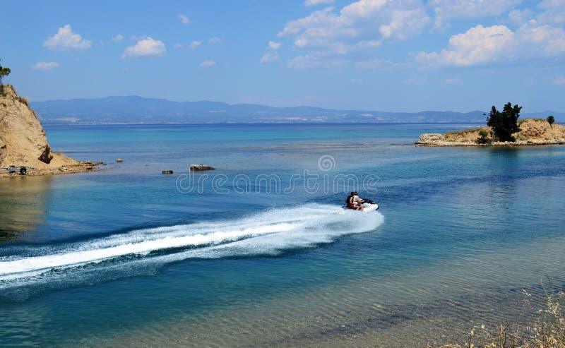 View of Nea Potidea in Kassandra, Chalkidiki peninsula, Greece. Beautiful view of Nea Potidea in Kassandra, Chalkidiki peninsula, Greece royalty free stock photo