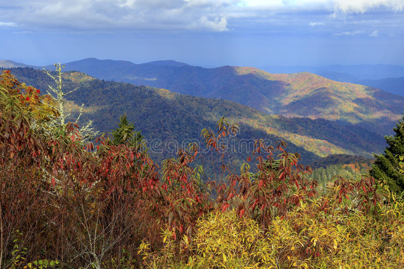 View from Great Smoky Mountains National Park. View from near Clingman`s Dome, Great Smoky Mountains National Park, Tennessee royalty free stock photography