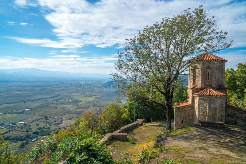 View from Nekresi, historic monastery in Kakheti, Georgia.  royalty free stock image