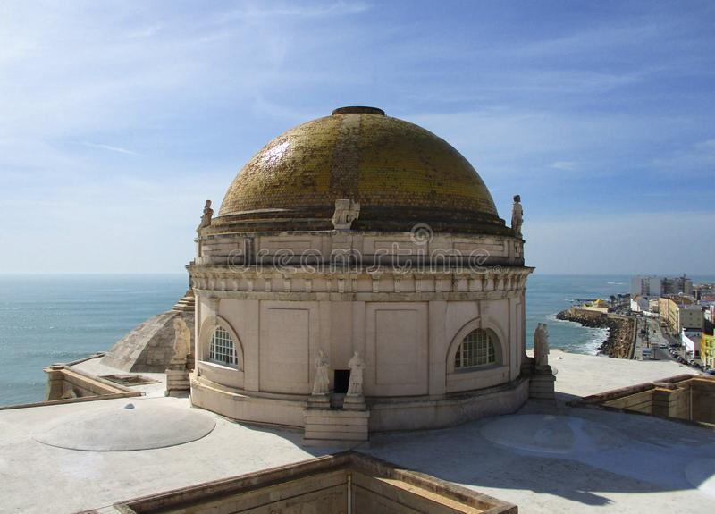 Cathedral of CAdiz. Spain stock images