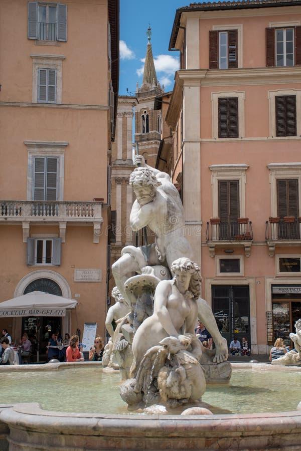 Piazza Navona - Rome Italy 2 stock photo