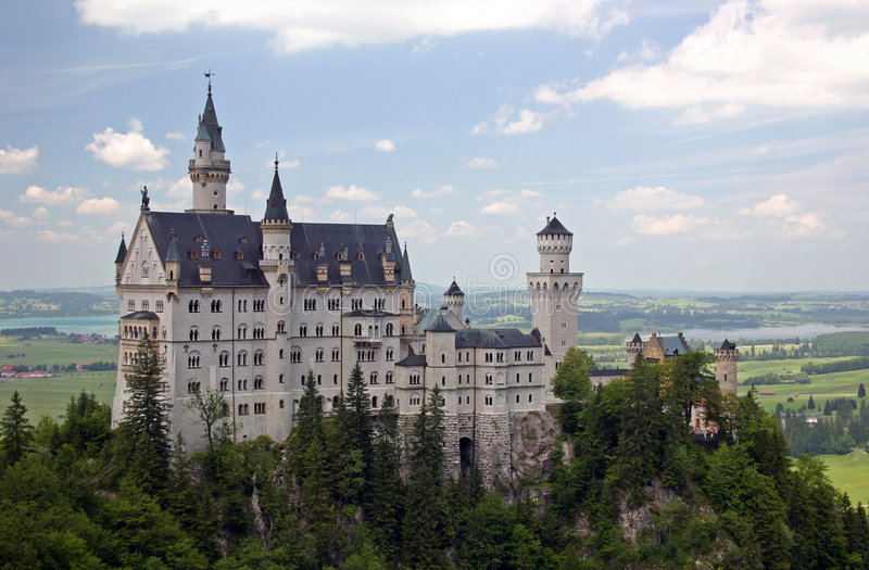 Download A View of Neuschwanstein stock photo. Image of fort, bavaria - 997404