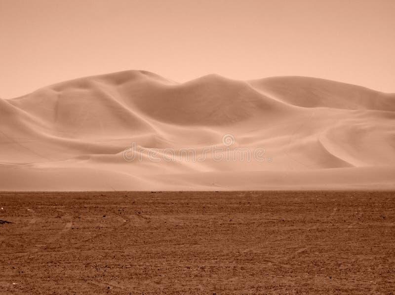 View of the Nevada Desert in sepia tone stock photos
