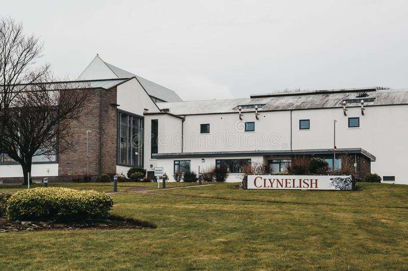 View of new building of Clynelish Distillery, Brora, Scotland. stock images