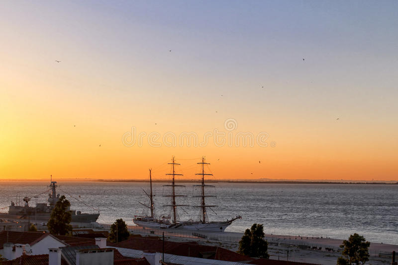 A view of new dawnin Alfama stock images