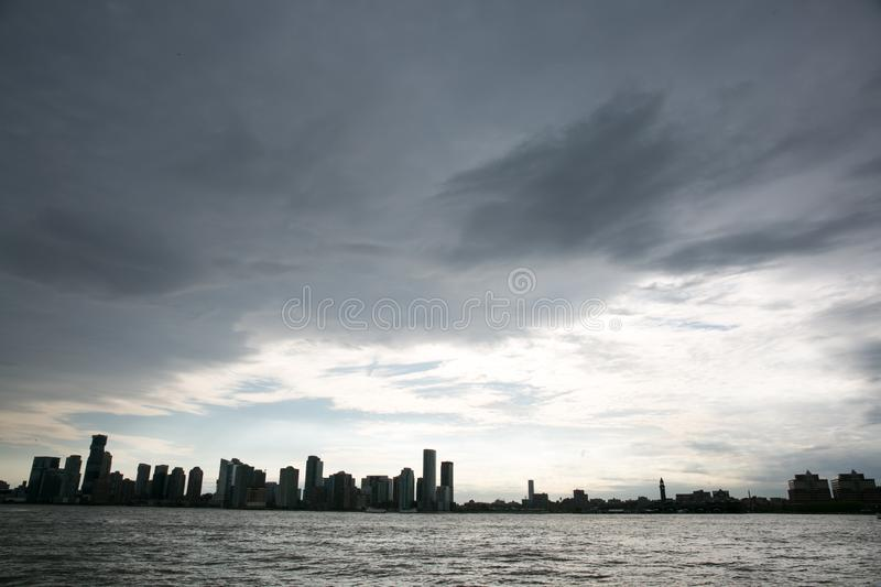View of New Jersey Skyline from Chelsea, new york, may 2019 stock photo
