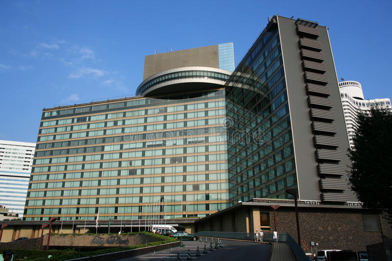 View of New Otani Hotel, Tokyo as seen in the James Bond movie You Only Live Twice. The front of the New Otani which Sean Connery's James Bond is seen visiting royalty free stock images