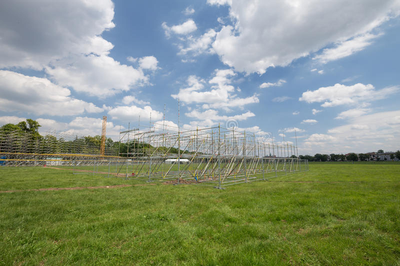 View of the new stage build for the World youth day / Krakow 2016 royalty free stock photos