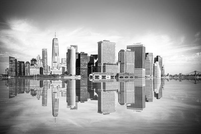 New York City cityscape Manhattan stock image