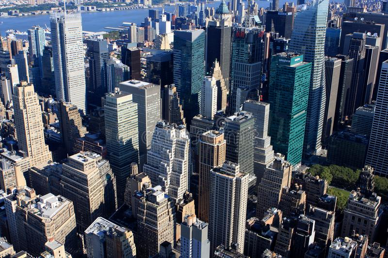 View of New York, USA. View of New York from Empire State building, USA royalty free stock photography