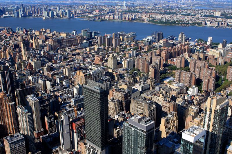 View of New York, USA. View of New York from Empire State building, USA stock images