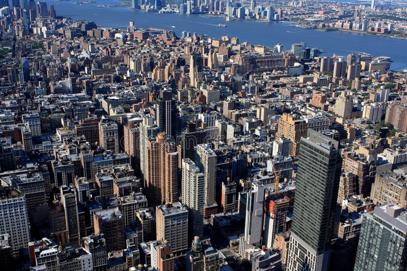 View of New York, USA. View of New York from Empire State building, USA royalty free stock image