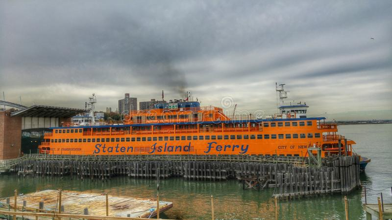 A View from New York's Staten Island Ferry stock photo