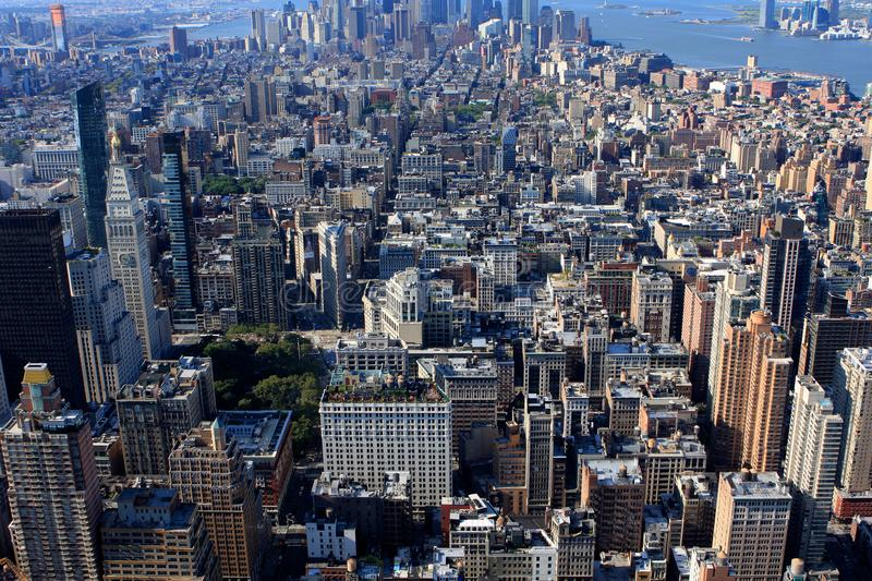 View of New York, USA. View of New York from Empire State building, USA stock photo