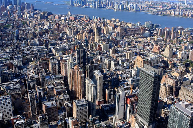 View of New York, USA. View of New York from Empire State building, USA royalty free stock photo