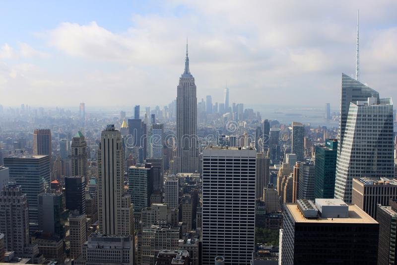 View of New York, USA. View of New York from the Top of the Rock building, USA royalty free stock image