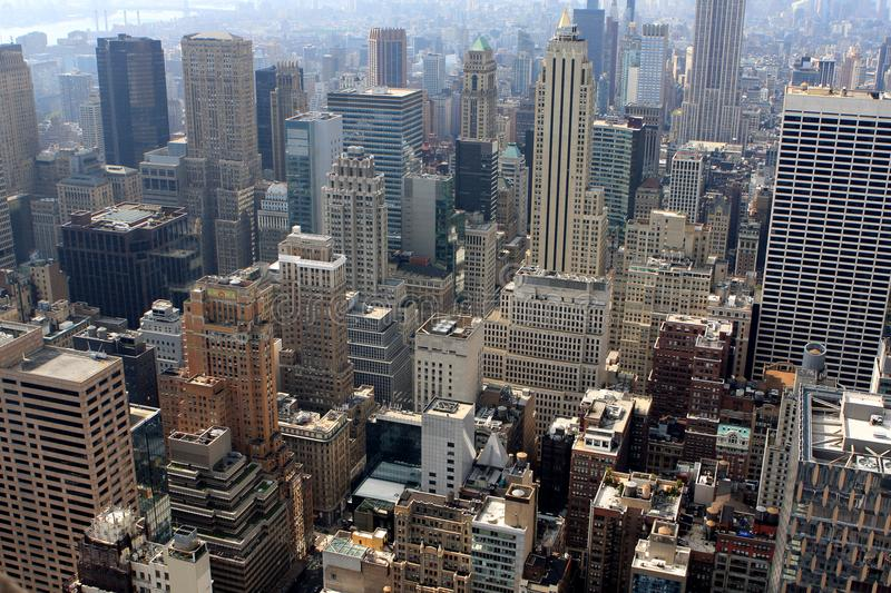 View of New York, USA. View of New York from the Top of the Rock building, USA royalty free stock photo