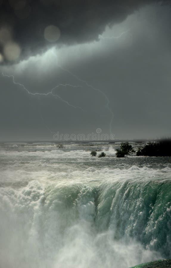 Niagara Falls under storm royalty free stock photo