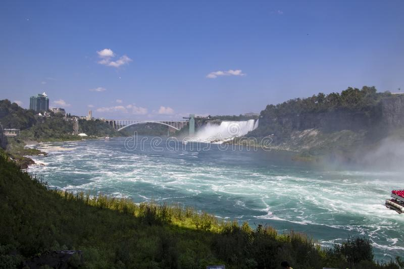 A view of the Niagara river royalty free stock images