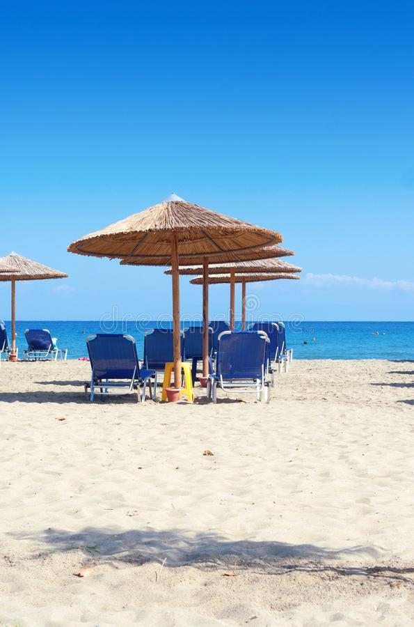 View Of Nice Empty Sandy Beach Royalty Free Stock Images