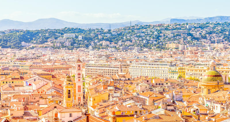 View of Nice, France stock images
