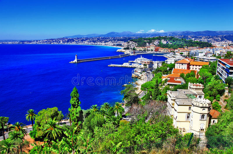 View of Nice, french riviera stock image